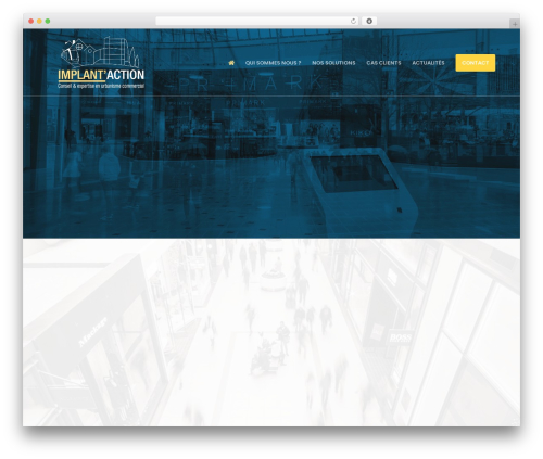 Movedo WordPress website template - implantaction.fr