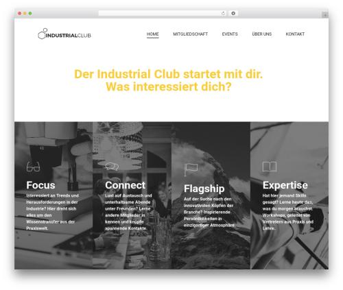 Salient top WordPress theme - industrialclub.ch