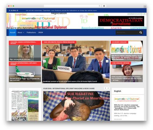 SKT Magazine Pro WordPress template - internationaldiplomat.com