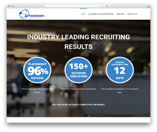Swenson business WordPress theme - insidesalesrecruiting.com