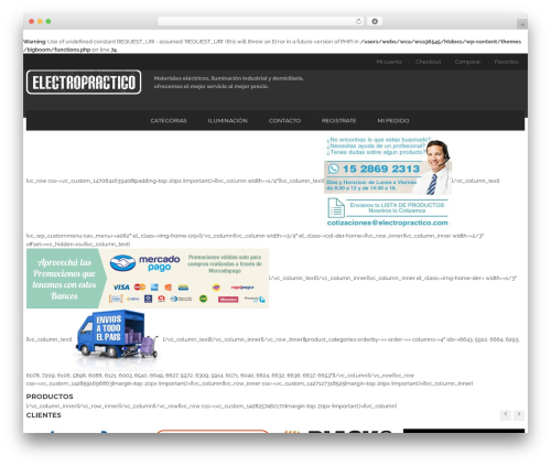 BigBoom top WordPress theme - electropractico.com