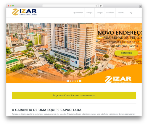 Enfold best WordPress template - izarconsultoria.com.br
