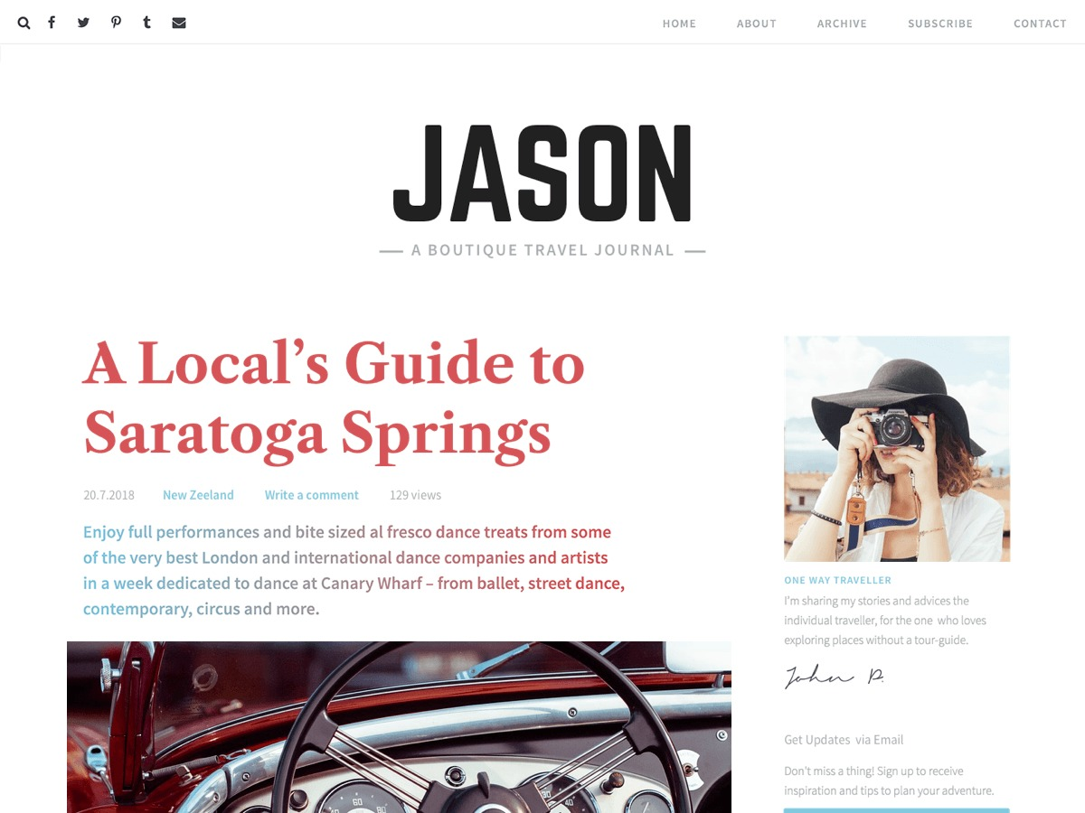 Jason Lite WordPress movie theme