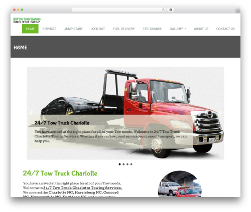 Rambo best free WordPress theme - 247towtruckcharlotte.com