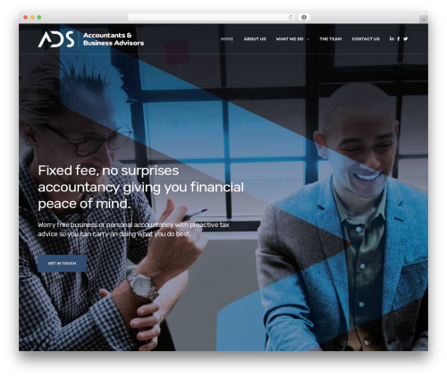 Revolution WordPress website template - ads-accountancy.co.uk