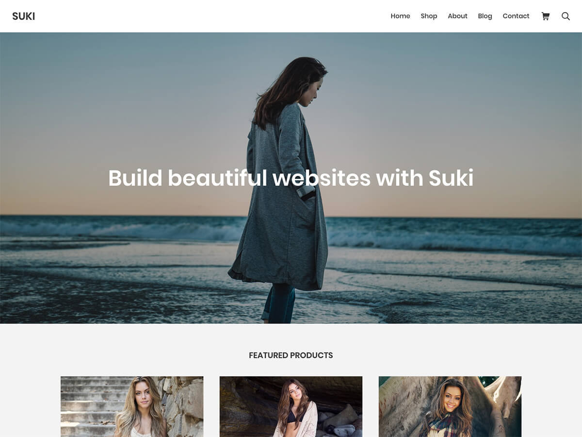Suki WordPress portfolio template