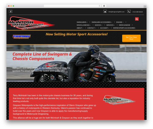 Theme WordPress Bikersclub - dragracing365.com