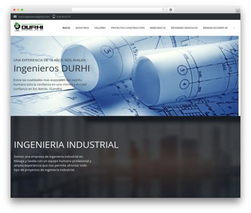WordPress website template Ascendio - ingenierosdurhi.es