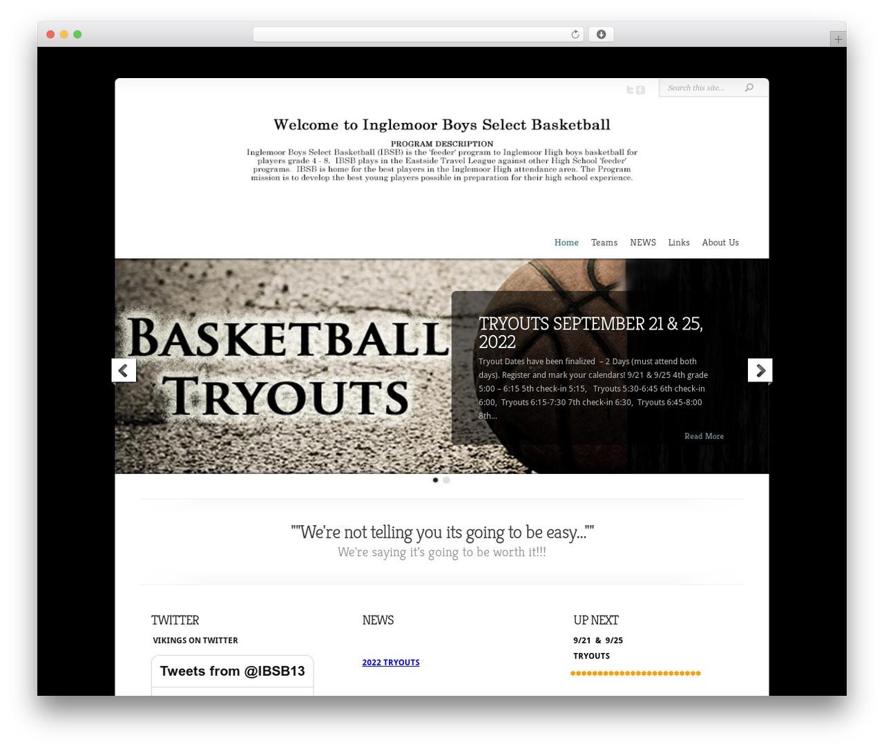 WP template Chameleon - inglemoorselectbasketball.com