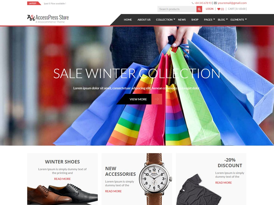 AccessPress Store Pro WordPress shop theme