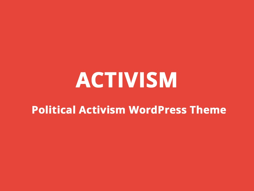Activism WordPress blog theme