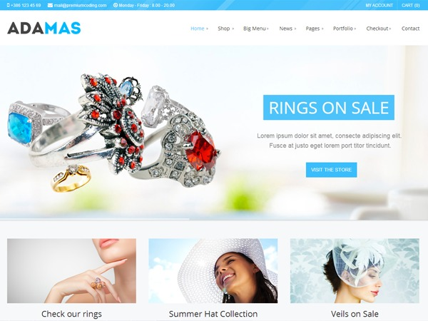 Adamas premium WordPress theme