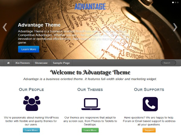 Advantage business WordPress theme