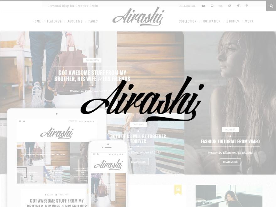 Airashi best WordPress template