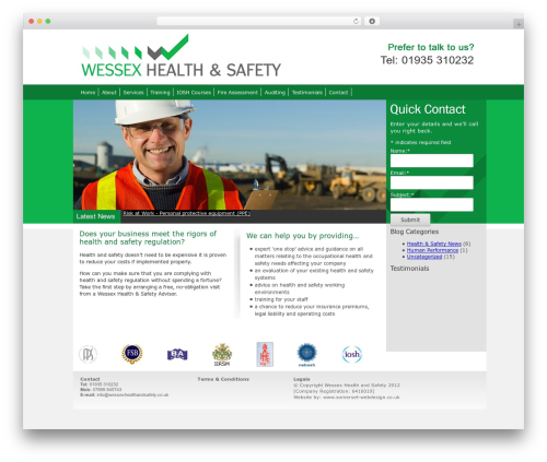 WordPress collision-testimonials plugin - wessexhealthandsafety.co.uk