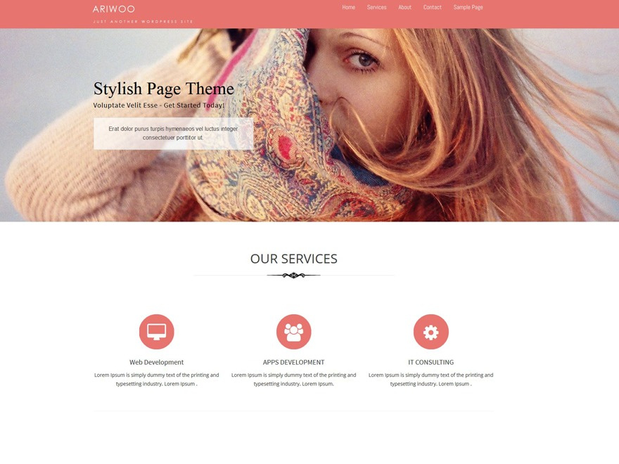 Ariwoo template WordPress