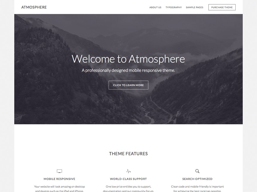 Atmosphere Pro wallpapers WordPress theme