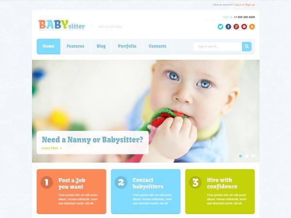 Babysitter WordPress blog theme