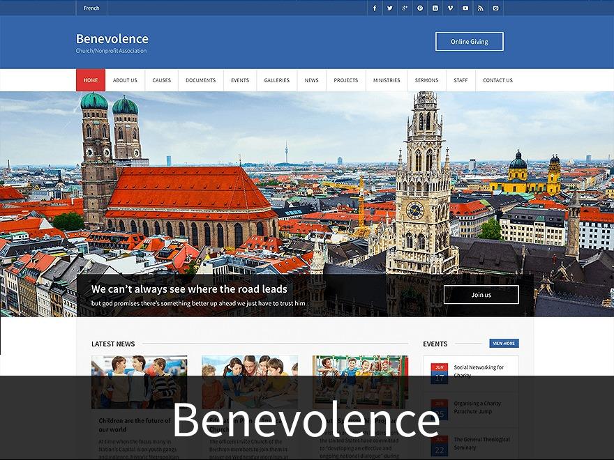Benevolence top WordPress theme