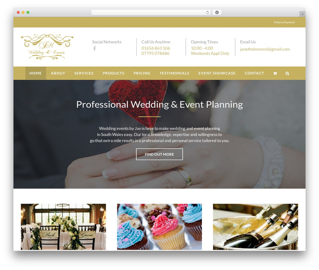 Best WordPress template Avada - weddingeventsbyjan.co.uk
