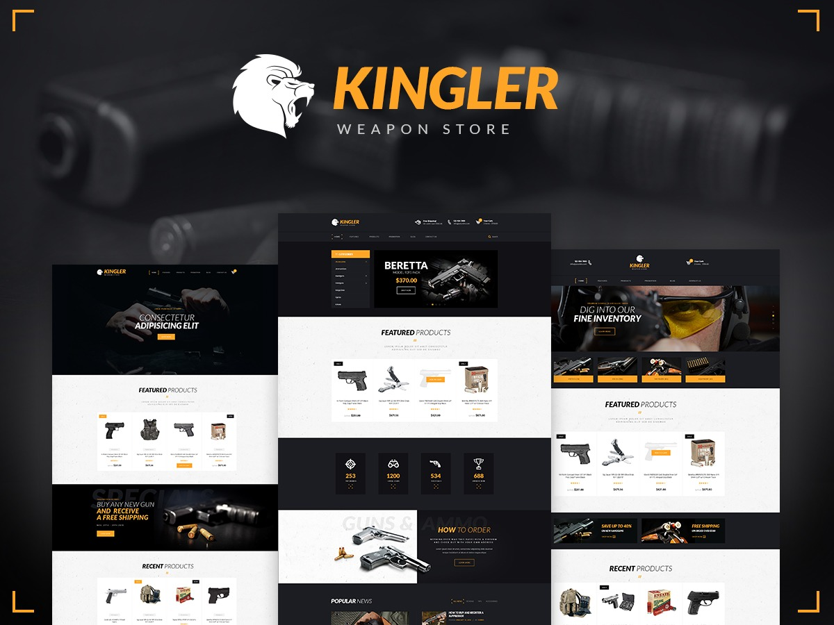 Best WordPress template Kingler Theme