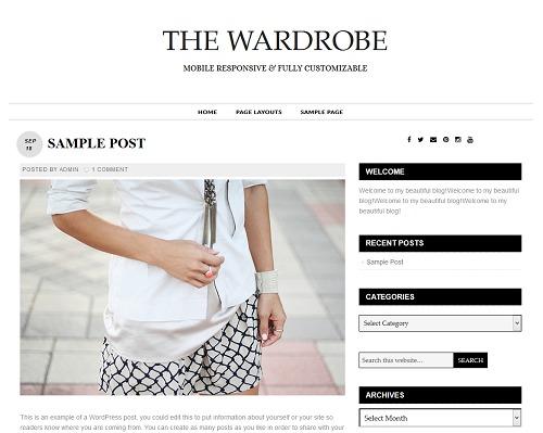 Best WordPress template The Wardrobe