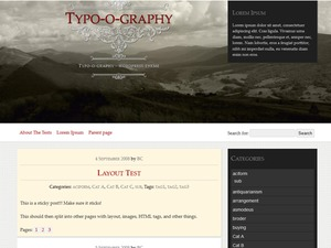 Best WordPress template Typo-o-graphy