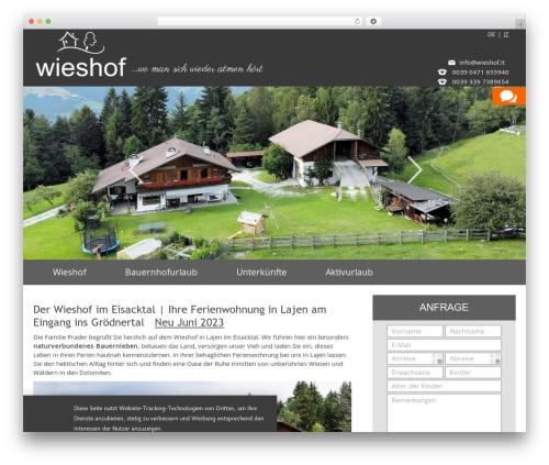 Free WordPress TablePress plugin - wieshof.it