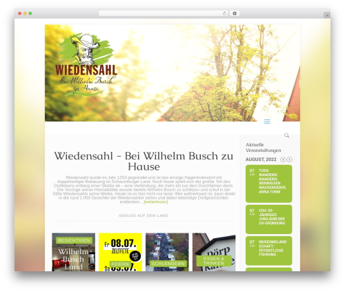 Betheme WordPress template - wiedensahl.de