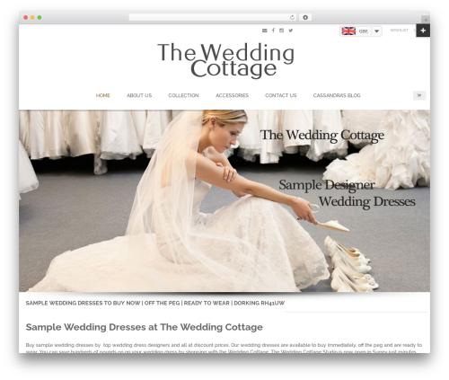 Blaszok WordPress wedding theme - weddingcottage.co.uk