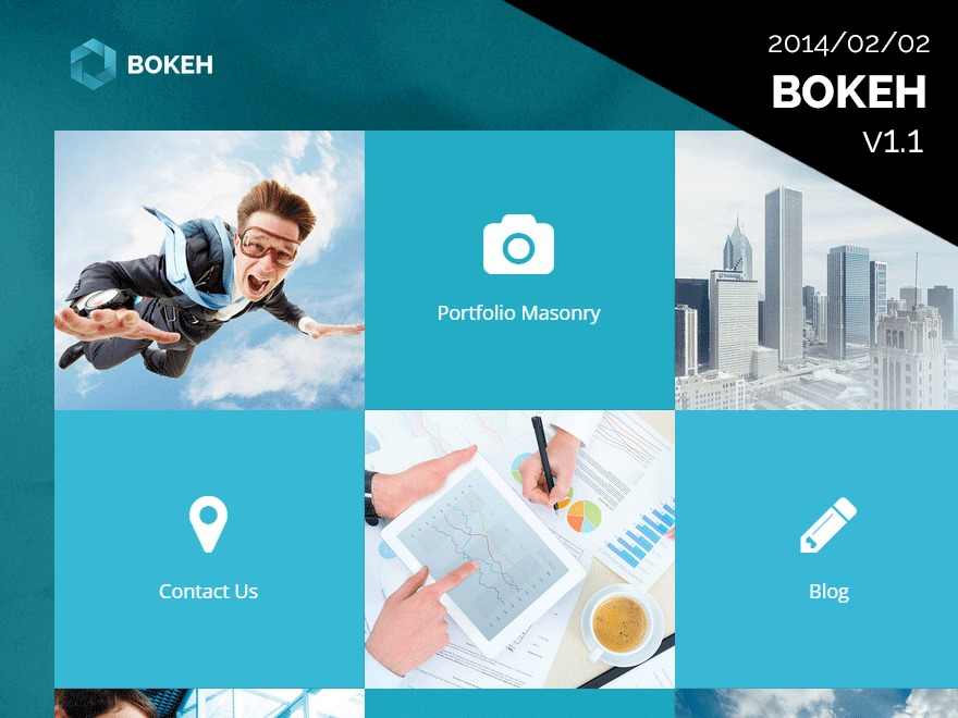 Bokeh WP theme