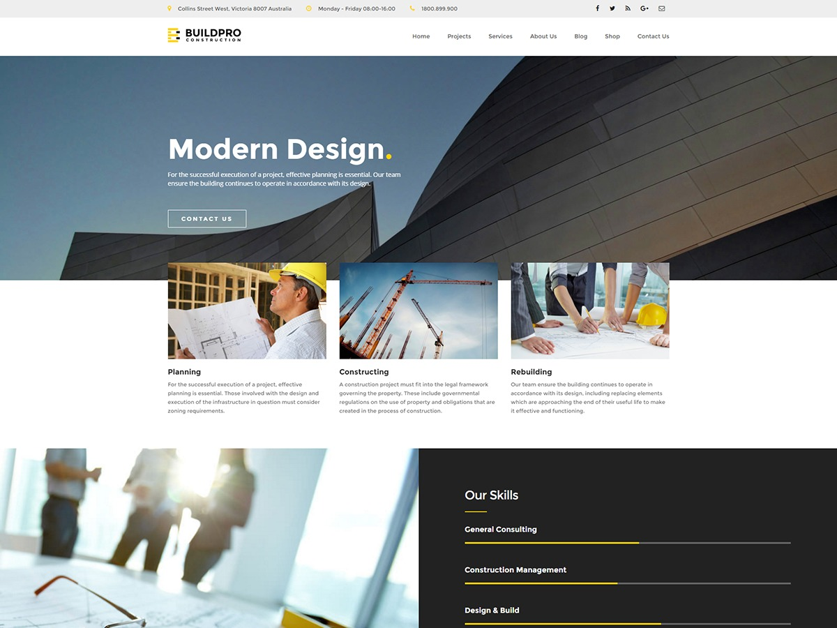 BuildPro template WordPress