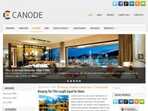 Canode WordPress blog template