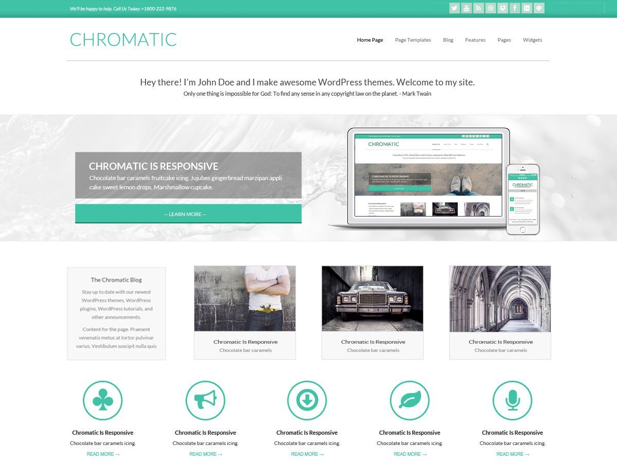 Chromatic Premium WordPress blog theme
