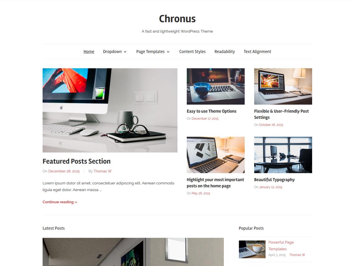 Chronus WordPress news theme