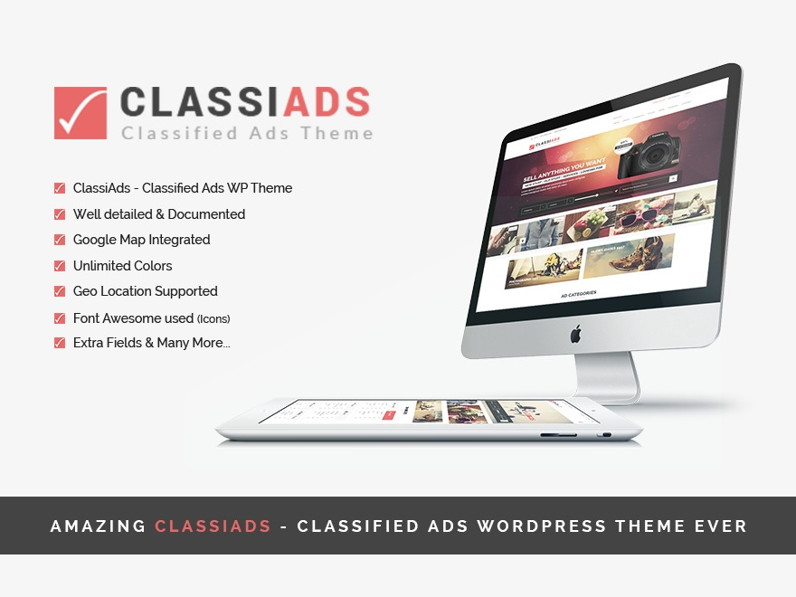 ClassiAds - WordPress Classified Ads Theme WordPress template