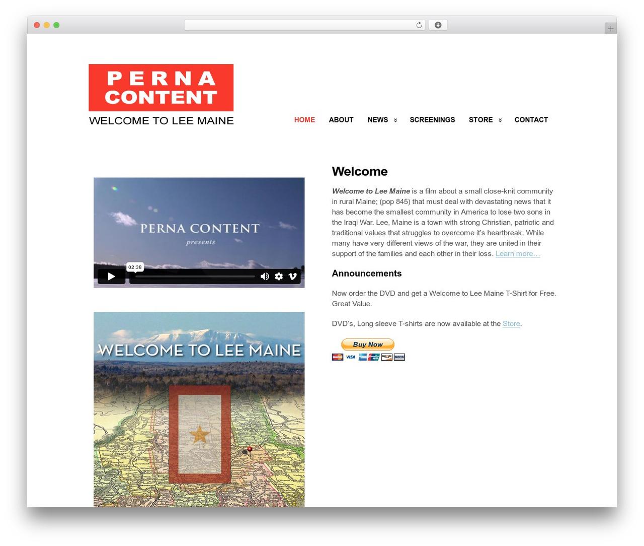 Clearly Modern best WordPress template - welcometoleemainefilm.com