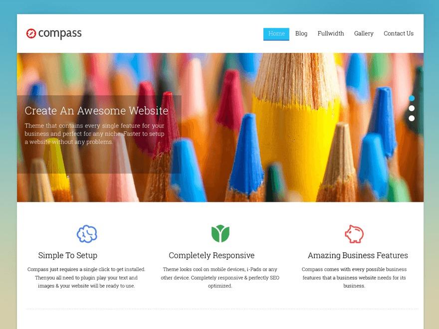 Compass Pro Responsive Theme photography WordPress theme