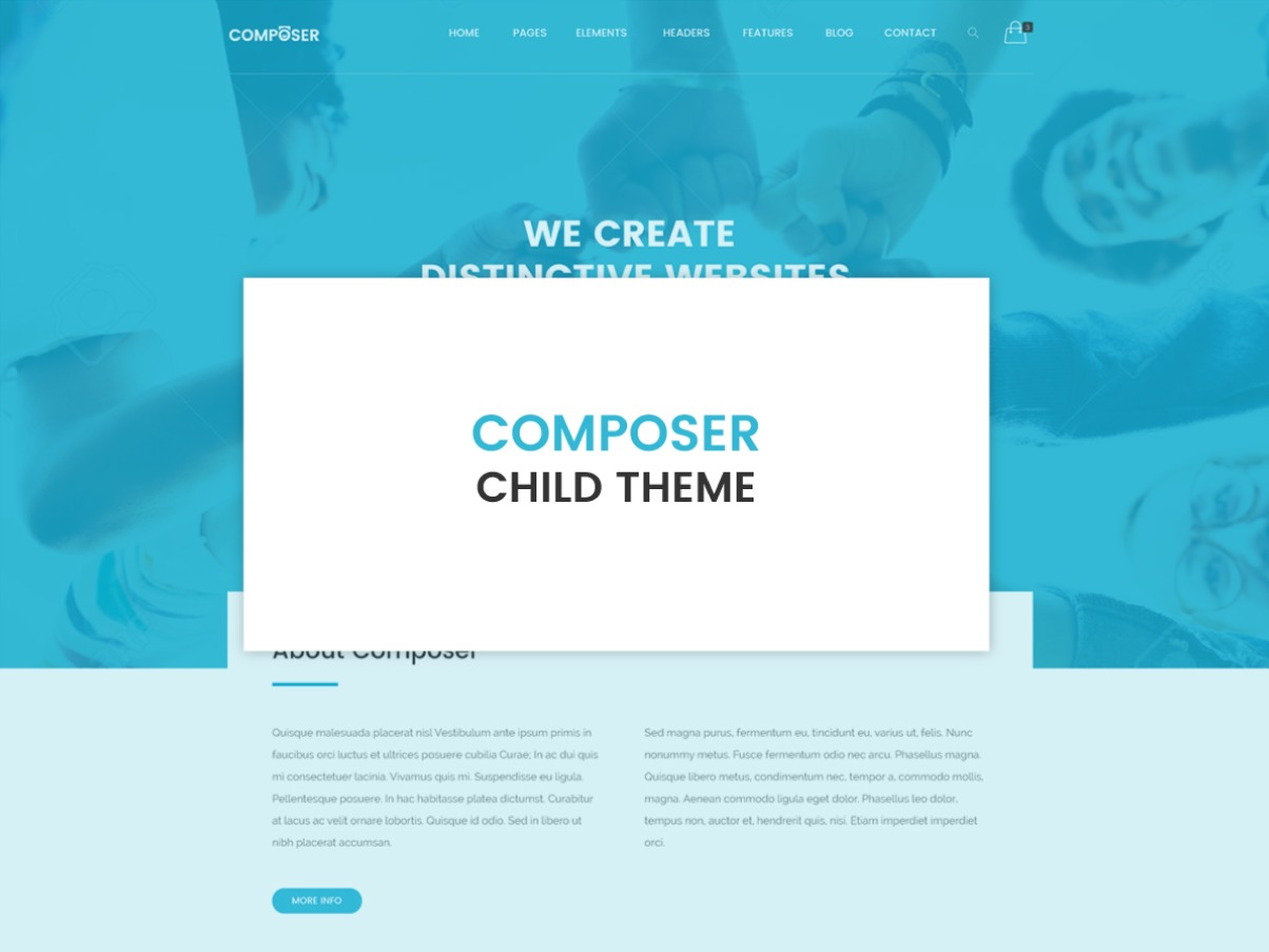 Composer Child Theme WordPress theme