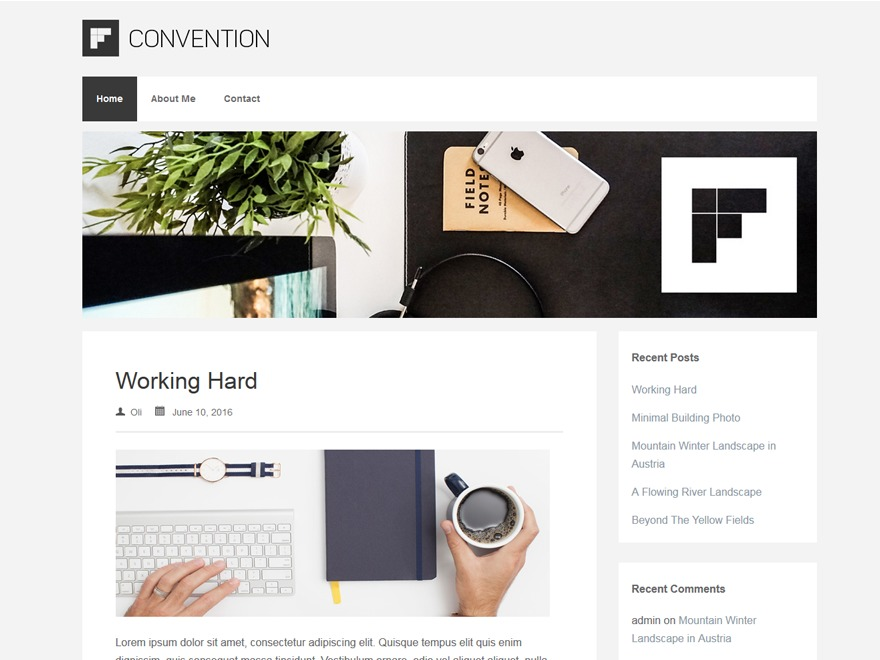 Convention free WP theme