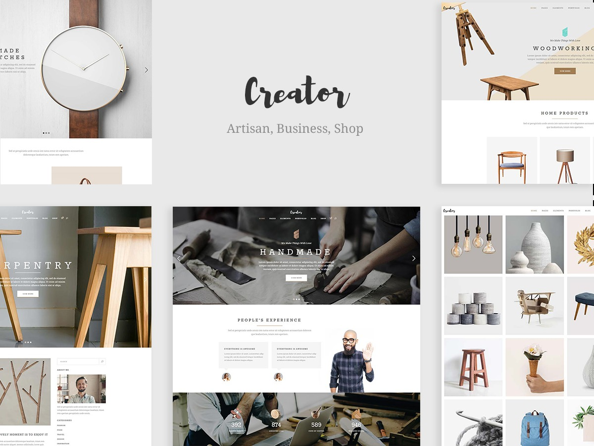 Creator best WordPress theme
