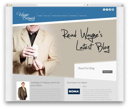 Crown WordPress website template - waynebeamish.com