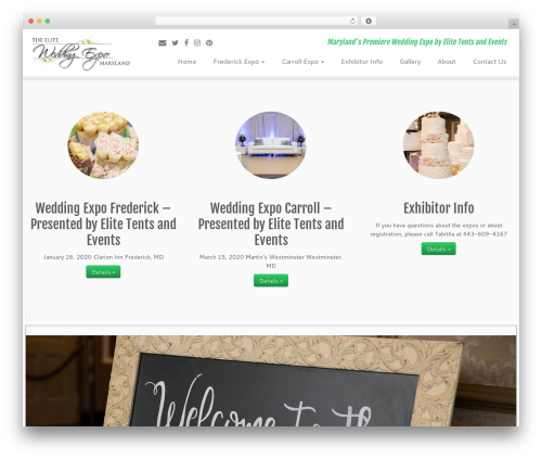 Customizr best WordPress theme - weddingexpomaryland.com