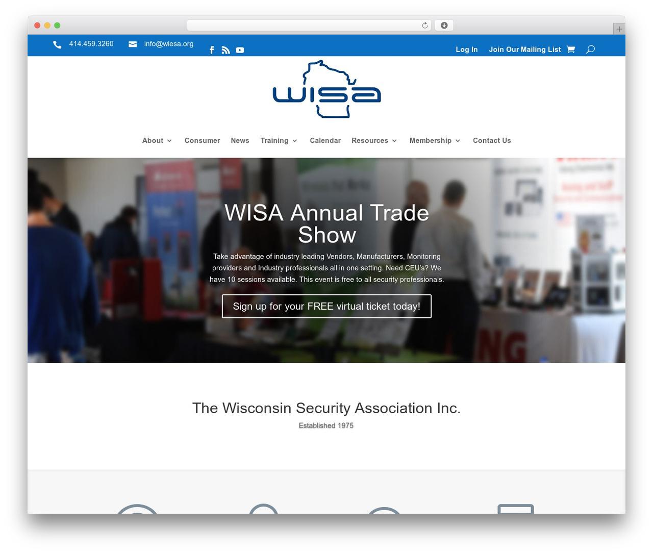 Divi WordPress theme - wiesa.org