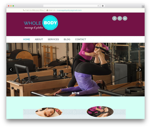 Dream Spa massage WordPress theme - wholebodymassageandpilates.com
