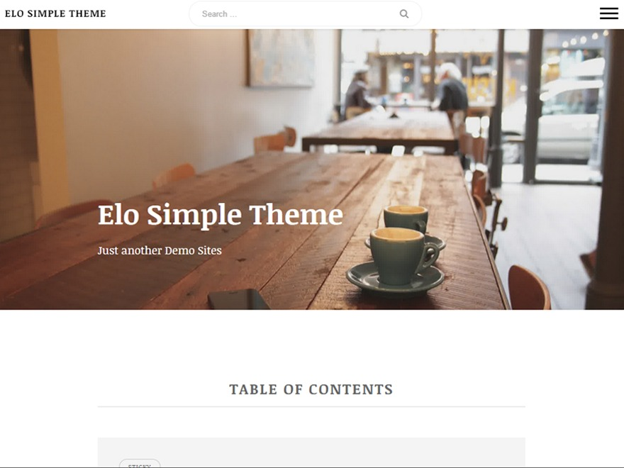 Elo WordPress theme design