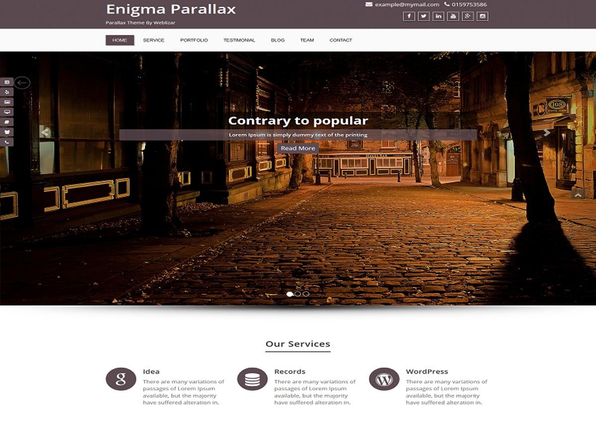 Enigma-Pro-Parallax WordPress template for business