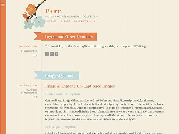 Fiore WordPress website template