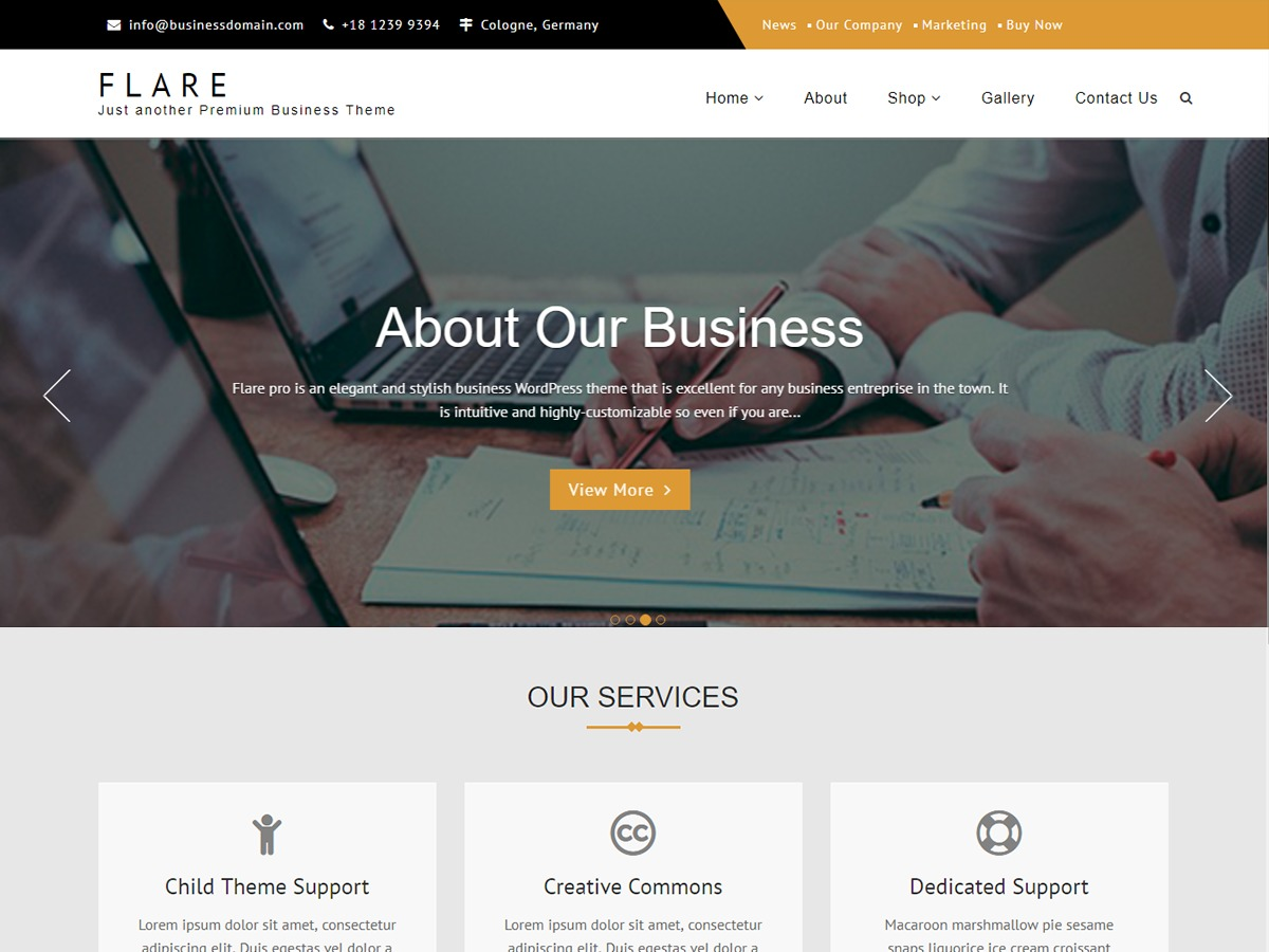 Flare theme WordPress free