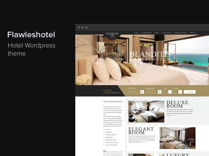 Flawleshotel best hotel WordPress theme
